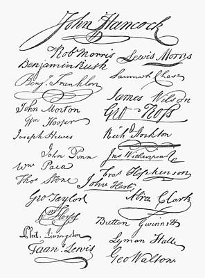 John Stockton Photograph - Declaration: Signatures by Granger