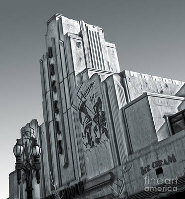 Deco Building In Black And White Art Print by Gregory Dyer