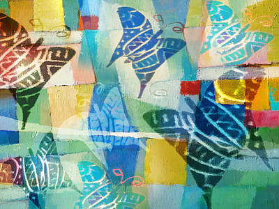 Butterfly Mixed Media - Deco Butterflies by Lutz Baar