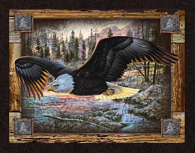 Bald Painting - Deco Eagle by JQ Licensing