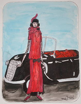 Painting - Deco Mama W/convertible by Mary Kay De Jesus