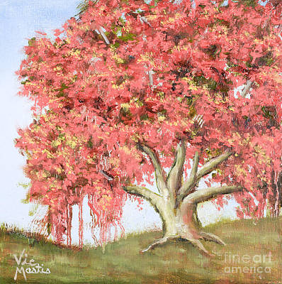 Painting - Deco Tree by Vic  Mastis