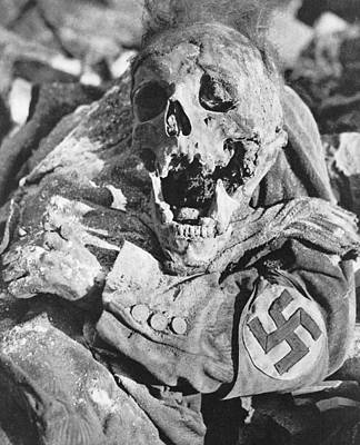 Decomposing Corpse Of Man With Swastika Print by Everett