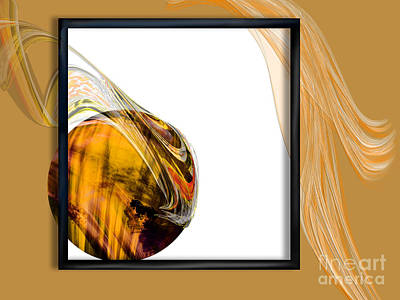Tigereye Painting - Deconstructed Abstract Tigereye  by Kathryn L Novak