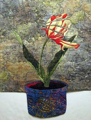 Still Life Tapestries Textiles Tapestry - Textile - Deconstructed Tulip by Lynda K Boardman
