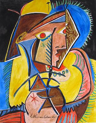 Painting - Deconstructing Picasso  - A Sexy Woman by Esther Newman-Cohen