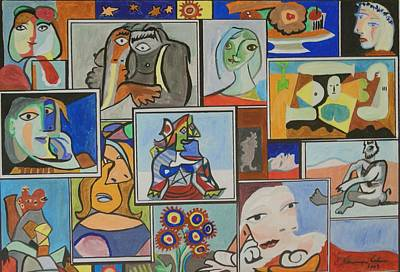 Painting - Deconstructing Picasso - Lovely Women by Esther Newman-Cohen