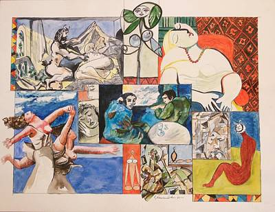 Painting - Deconstructing Picasso - Sleep And Fantasy by Esther Newman-Cohen
