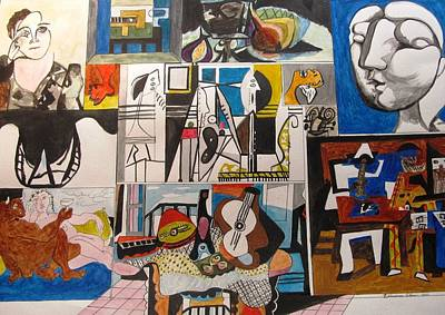 Painting - Deconstructing Picasso - Women And Musicians by Esther Newman-Cohen