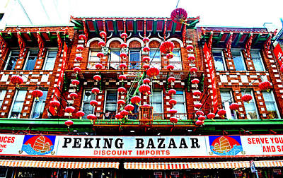 Photograph - Decorated Building In Chinatown In San Francisco by Jim Fitzpatrick