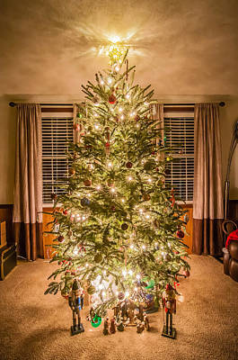 Art Print featuring the photograph Decorated Christmas Tree by Alex Grichenko