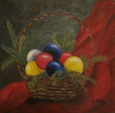 Basket Ball Painting - Decorated For Christmas by Nancy Craig