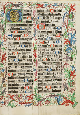 1505 Painting - Decorated Initial G Unknown Germany, Westphalia by Litz Collection