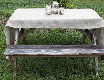 Photograph - Decorated Table by Lee Hartsell