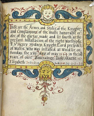 Decorated Title Page Art Print by British Library