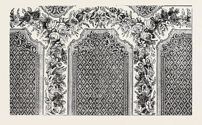 Historic Home Drawing - Decoration For Room by Messrs. Woollams And Co, English, 19th Century