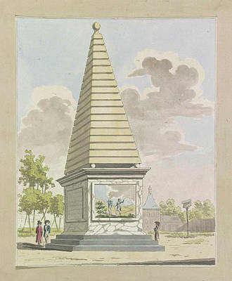 Decoration In Plantation, 1795 Print by A. Verkerk And Johannes Roelof Poster