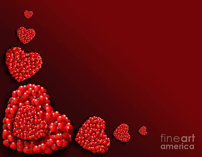 Decoration Of Heart Shaped Hearts Print by Kiril Stanchev