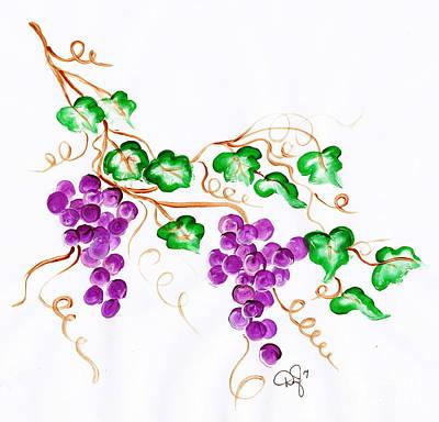 Achieving - Decorative Grapes 2 by Dale Jackson