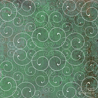 Photograph - Decorative Green Spirals  by Mindy Bench
