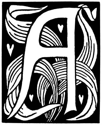 Painting - Decorative Initial, 1893 by Granger