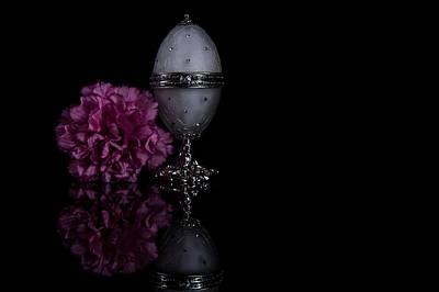 Decorative Jewel Egg Print by Eje Gustafsson