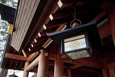 Shinto Temple Photograph - Decorative Lanterns Line The Courtyard by Paul Dymond