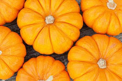 Autumn Photograph - Decorative Pumpkins  by Alexey Stiop