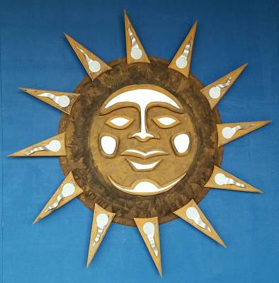 Mixed Media - Decorative Sun by Edward Pebworth