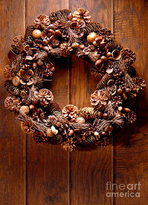 Photograph - Decorative Wreath by Olivier Le Queinec