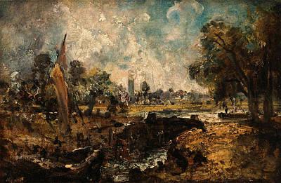Dedham Painting - Dedham Lock, John Constable, 1776-1837 by Litz Collection