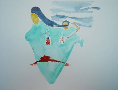 Justice Painting - Dedicated To Indian Women by Geeta Biswas