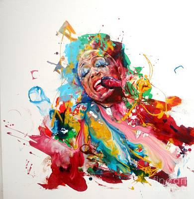 Dee Painting - Dee Dee Bridgewater by Massimo Chioccia and Olga Tsarkova