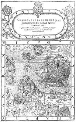 Dee Painting - Dee Navigation, 1577 by Granger