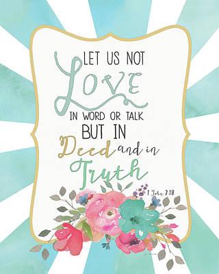 Deed & Truth Art Print by Jo Moulton
