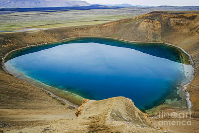 Photograph - Deep Blue Crater Lake by Patricia Hofmeester