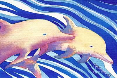 Painting - Deep Blue by Frances Ku