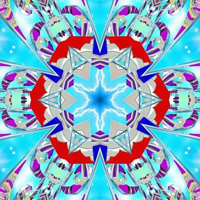 Digital Art - Deep Blue Geometry by Derek Gedney