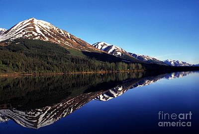 Deep Blue Lake Alaska Art Print by Thomas R Fletcher