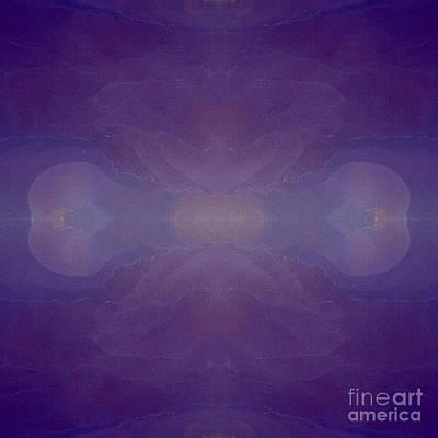 Phytoplankton Digital Art - Deep Blue Ocean Currents II Earth Art by Animated Sentiments