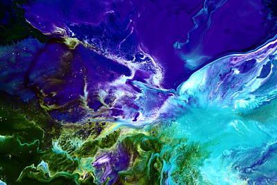 Deep Blue Sea Abstract Art Print by Serg Wiaderny