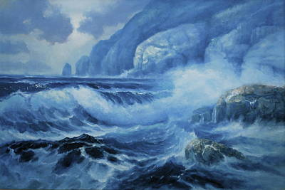 Painting - Deep Blue Sea by Richard Hinger