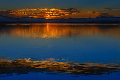 Photograph - Deep Blue Sunset. by Juan Carlos Ferro Duque