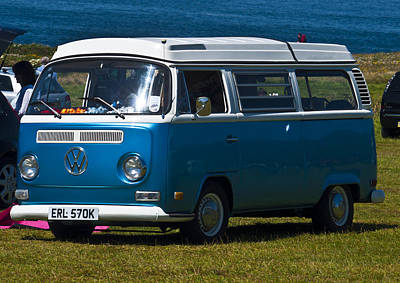 Van Photograph - Deep Blue Vw by Paul Howarth