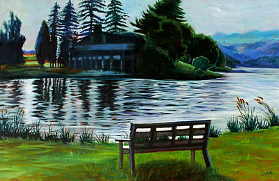 Deep Creek Art Print by Susan Duda