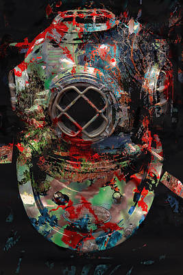 Diving Helmet Photograph - Deep Dive Disaster by Daniel Hagerman