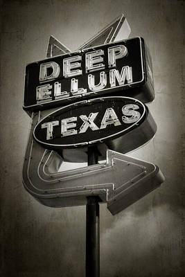 Design Turnpike Vintage Maps - Deep Ellum by Joan Carroll