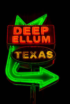 Photograph - Deep Ellum Sign by David Morefield