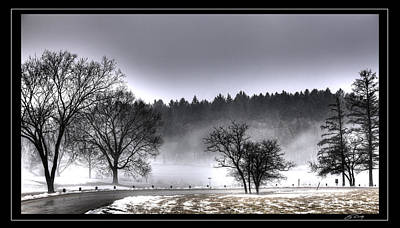 Deep Fog Over Marmo   Framed Art Print by Ed Cilley