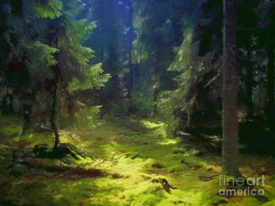 Deep Forest Art Print by Lutz Baar